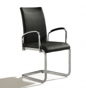 Anwick Grey Faux Leather Dining Arm Chair