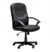 Uxbridge Black Leather Faced Desk Chair