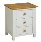 Lilli Dove White Bedside Chest