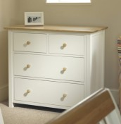 Lilli Dove White 4 Drawer Chest
