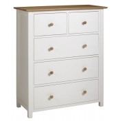 Lilli Dove White 5 Drawer Chest