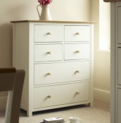 Lilli Dove White 6 Drawer Chest