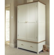 Lilli Dove White 2 Door 1 Drawer Wardrobe