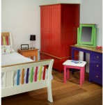 Whitby Coloured 2 Door 1 Drawer Wardrobe