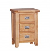 Castelli Oak 3 Drawer Bedside Chest