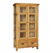 Chaparro Oak Glazed Display Cabinet