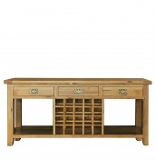 Chaparro Oak Wine Rack Console