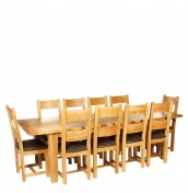 Chaparro Oak Extending Dining Table and Chairs