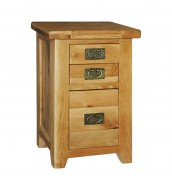 Chaparro Oak 3 Drawer Bedside Chest