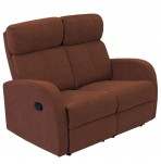 Bravia Cocoa Upholstered 2 Seater Recliner Sofa