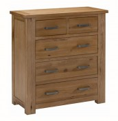 Miller Oak 5 Drawer Chest