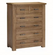 Miller Oak 6 Drawer Chest