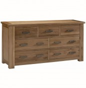 Miller Oak 7 Drawer Wide Chest