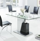 Meterik Small Glass Dining Table and Chairs
