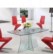 Nivala Clear Glass Dining Table and Chairs