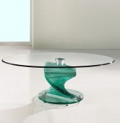 Arvika Clear Glass Coffee Table