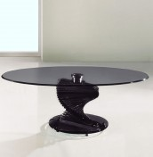 Arvika Black Glass Coffee Table