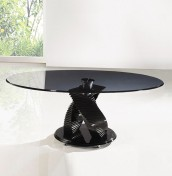 Varsen Black Glass Coffee Table