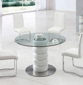 Modesto White Round Kitchen Table and Chairs