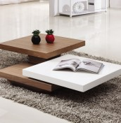 Fontana White Rotating Coffee Table