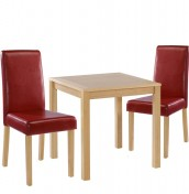 Foxton Oak Small Red Kitchen Set