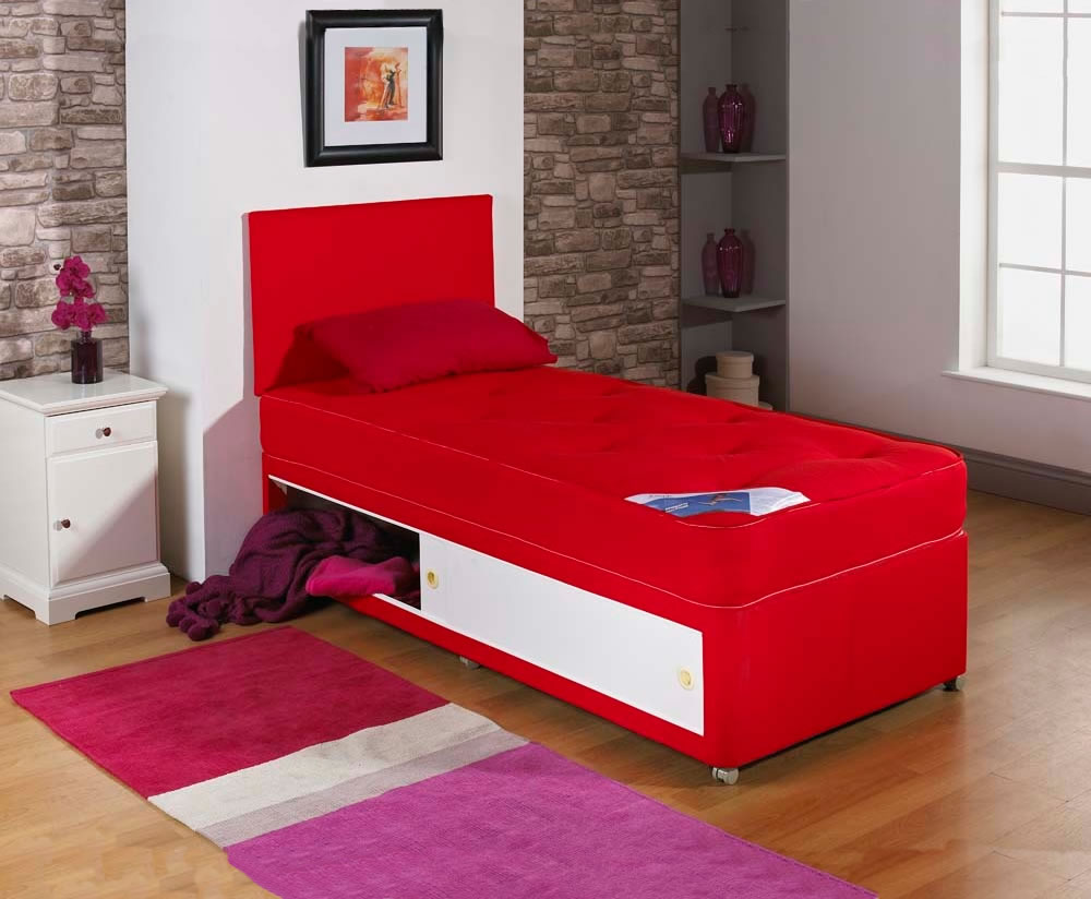 Alexis Red Childrens Divan Set Uk Delivery