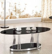 Cosmo Black Glass Coffee Table