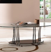 Cosmo Clear Glass Coffee Table