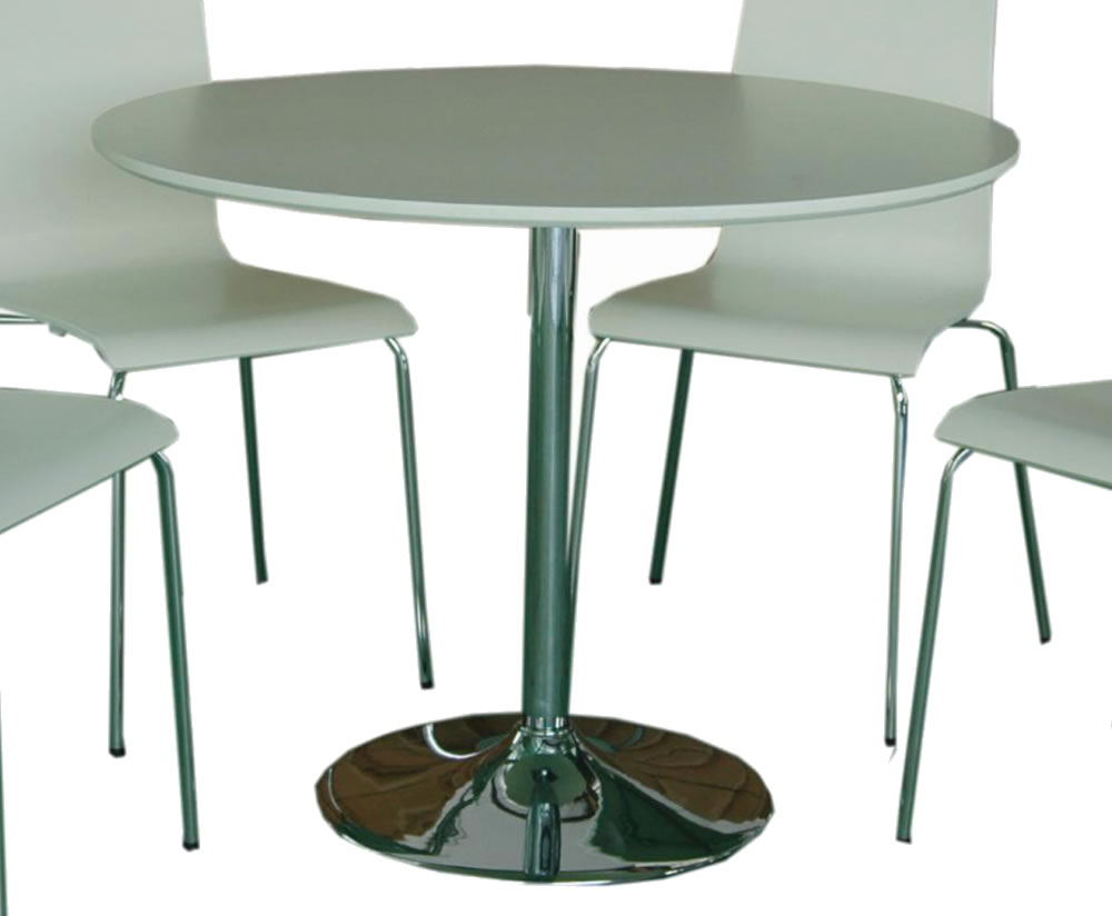 Shoreditch white round kitchen table and chairs - Round kitchen table sets for ...