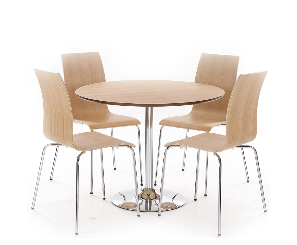 Shoreditch oak round kitchen table and chairs for Kitchen table and chairs