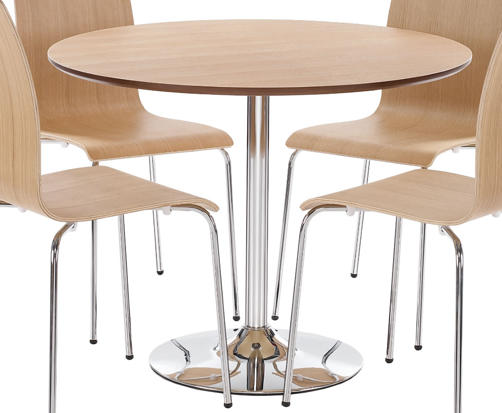 Shoreditch oak round kitchen table and chairs - Round kitchen table and chairs uk ...