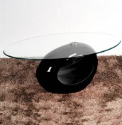 Kubin Black Glass Coffee Table