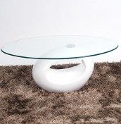 Kubin White Glass Coffee Table