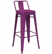 Mojo Purple Metal Bar Stools