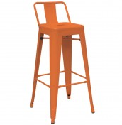 Mojo Orange Metal Bar Stools