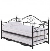 Empoli Black Metal Day Bed