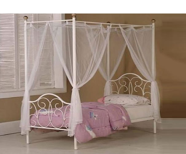 Princess 4 Poster Children S Metal Bed Frame Single Size 3ft