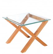 Mendoza Oak and Glass Lamp Table