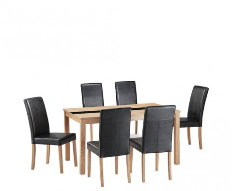 Brisbane Ash Large Dining Table And Chairs 7 Day Express UK Delivery