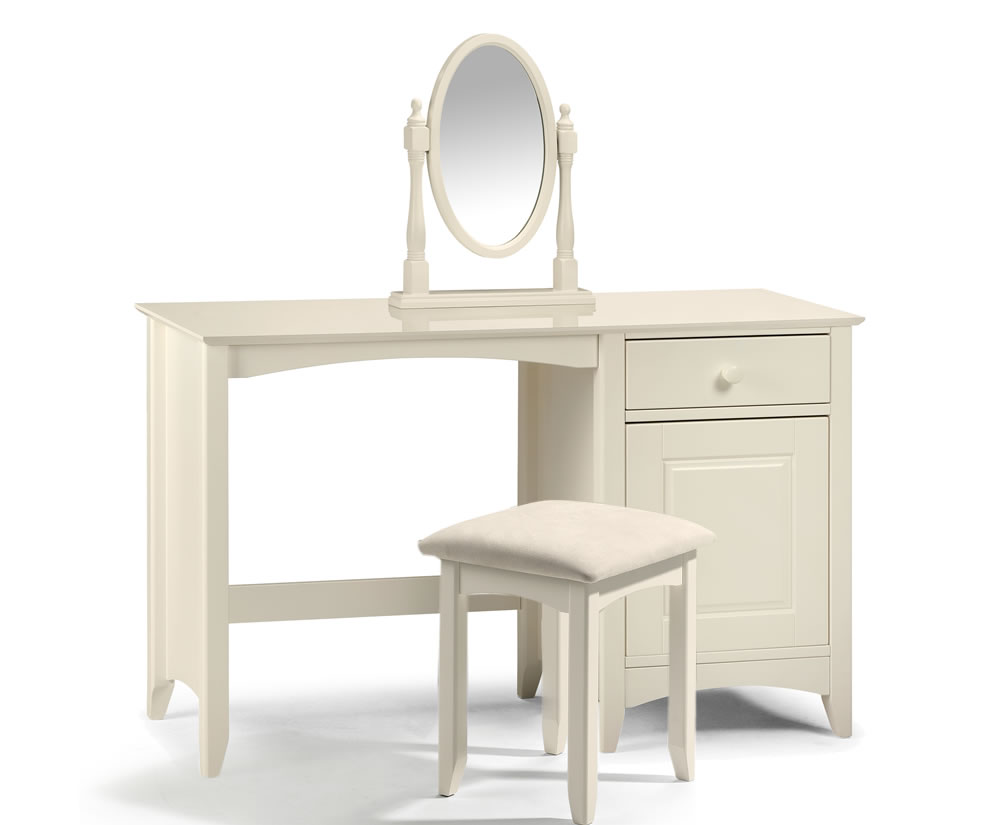 Cameo off white single dressing table 7 day express uk for Single dressing table
