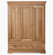 Nancy Oak 3 Door Wardrobe