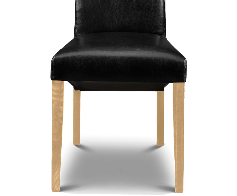 artemis black faux leather dining chairs