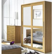 Melody 2 Door Mirrored Sliding Wardrobe