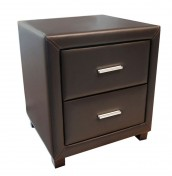 Archie Brown Faux Leather Bedside Chest