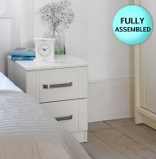 Cristal Ivory 2 Drawer Bedside Chest