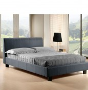 Easton Grey Upholstered Bed