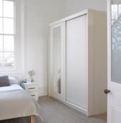 Cristal Ivory Sliding Wardrobe with Mirror