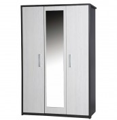 Kavarna 3 Door Wardrobe with Mirror