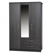 Kavarna 3 Door 2 Drawer Wardrobe with Mirror