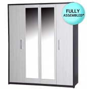 Kavarna 4 Door Wardrobe with Mirror